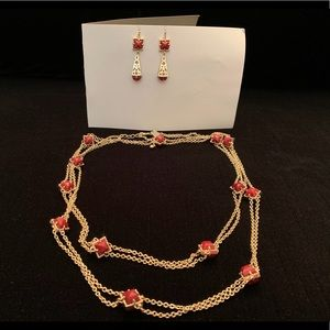 KENDRA SCOTT Station Necklace & Matching Earrings